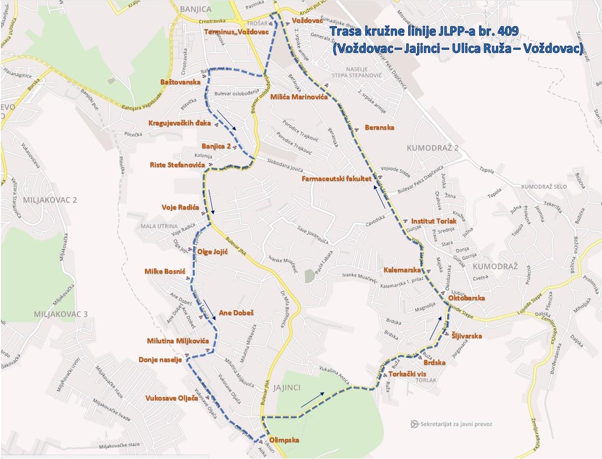 Uvedena Nova Minibus Liniјa 409 Na Relaciјi Trosharina јaјinci
